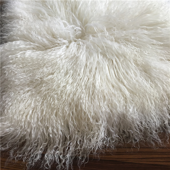 Mongolian Lamb Fur Sheep Fur Pillows for Home Decoration