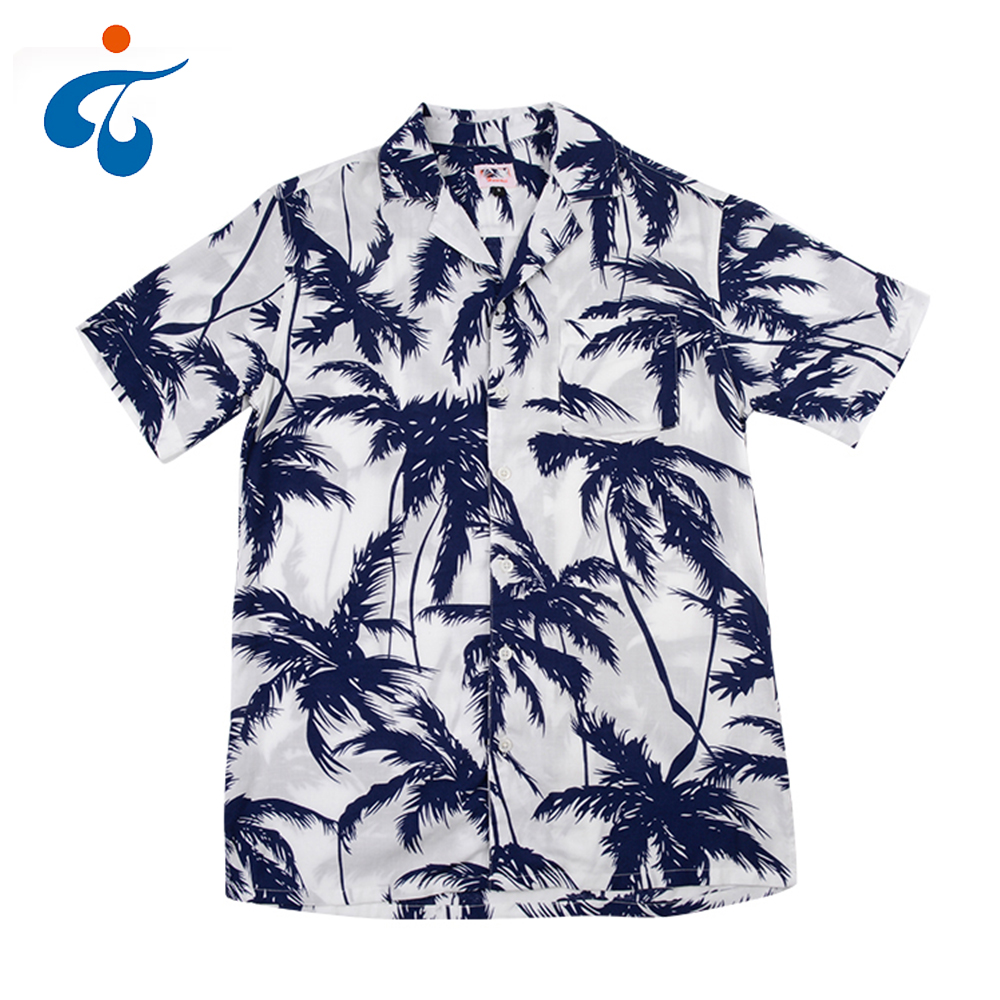 Wholesale price new design eco-friendly custom rayon hawaiian <strong>shirt</strong> man
