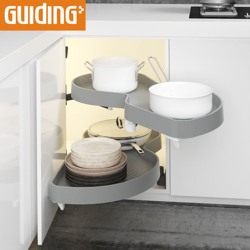 Blind Corner Pantry Pull Out Shelves Diy Soft Closing Damper Magic Corner Magic Corner For Kitchen Cabinet