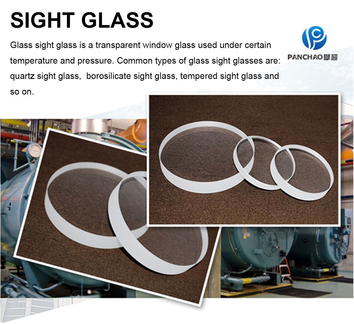 Heat Resistant Safety High Transparency Pressure Sight Glass