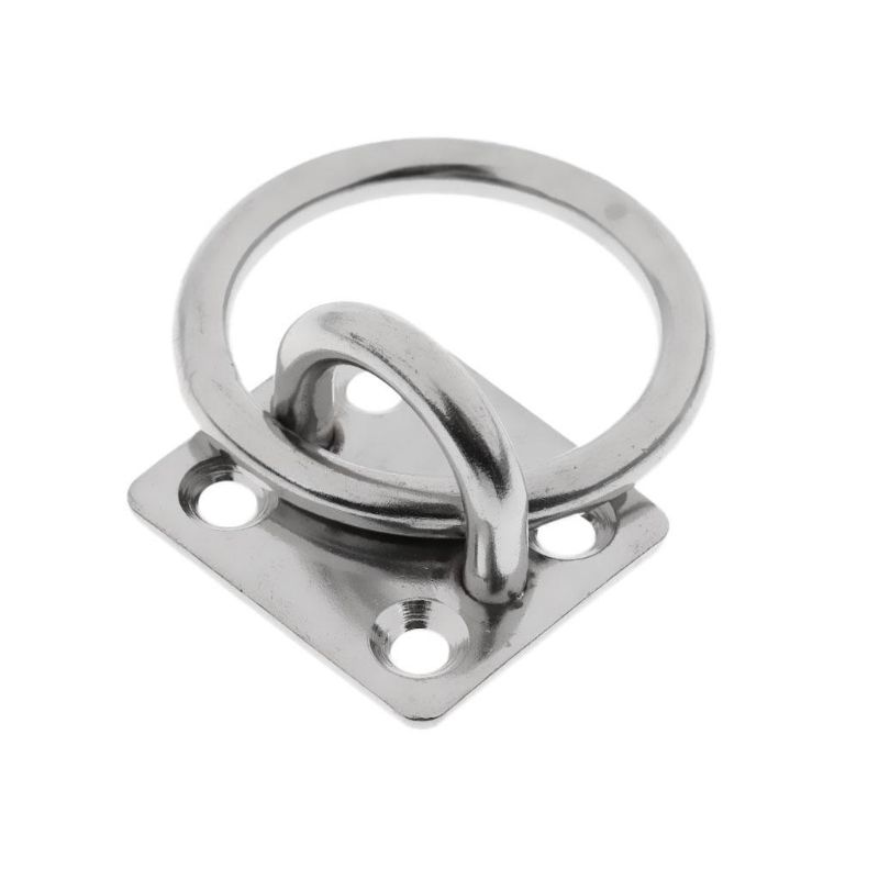 Stainless Steel Pad Eye U-shaped Plate Eye Hook Hanger for Boat Marine yacht M6