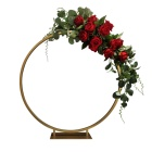 Simple Wedding Centerpieces Small Meta Arch Little Round Arch Metal Flower Stands table centerpiece wedding decoration
