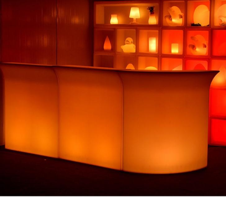 glow led mobile bar / led bar counter / portable bar counter