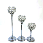 Wholesale new design tall candlesticks centerpieces weddings decoration silver crystal candlestick