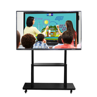 Portable 4K HD school educational electronic equipment android smart board for kids