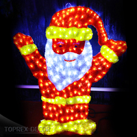 Toprex Decor wholesale led christmas decor light acrylic santa claus