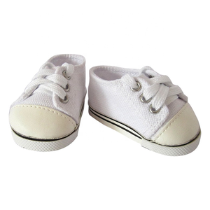 Wholesale China Made Flat Leather Rubber Sole American Girl Bjd 18 Inch Baby Women Doll Shoes