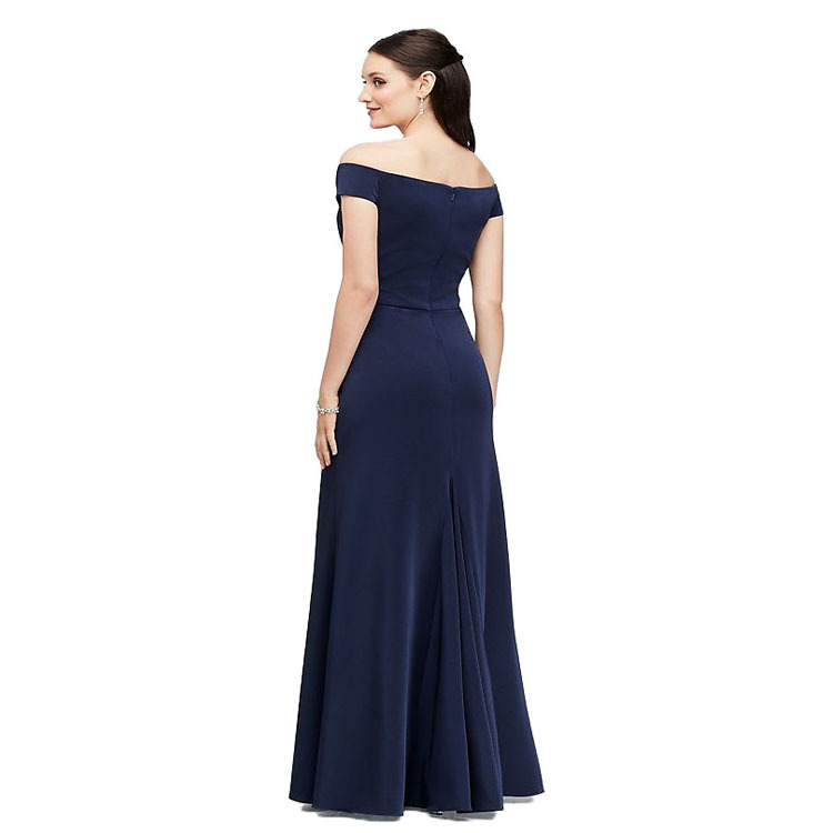 Women Sexy Maxi Dresses With Slit Off Shoulder Sexy Bridesmaid Dress