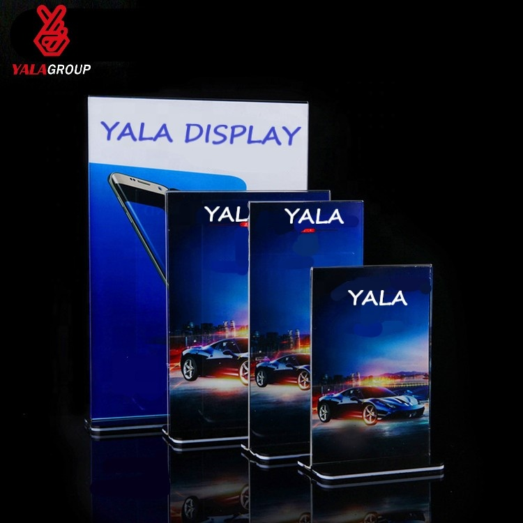a4 a5 a6 acrylic poster table menu holder tabletop display <strong>stand</strong> for restaurant