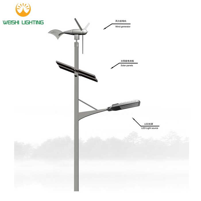 china supplier outdoor luminaries Solar Outdoor Light Maintenance Free Battery Wind Turbine High Quality Hot Selling Photocell