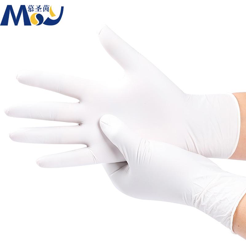 TOPขายสต็อกที่มีสีสันความปลอดภัยทิ้งป้องกันSterile Latexหรือถุงมือไนไตรล์