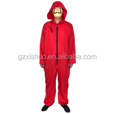 Ainiel Salvador Dali Cosplay Costume De La Casa De Papel Cosplay Fantaisie Rouge Combinaison Vêtements De Fête D'halloween grande taille costume