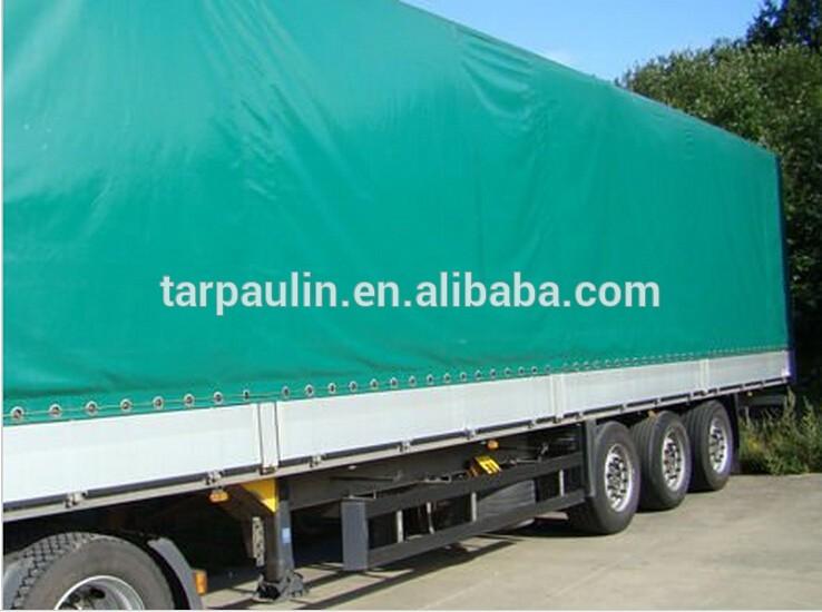 Plastic open cargo tarpaulin trailer cover