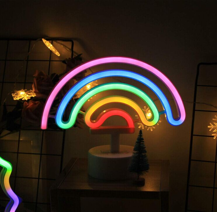 Battery operated or Usb cable power Custom Thunderbolt moon flamingo unicorn neon letter sign garden home lighting