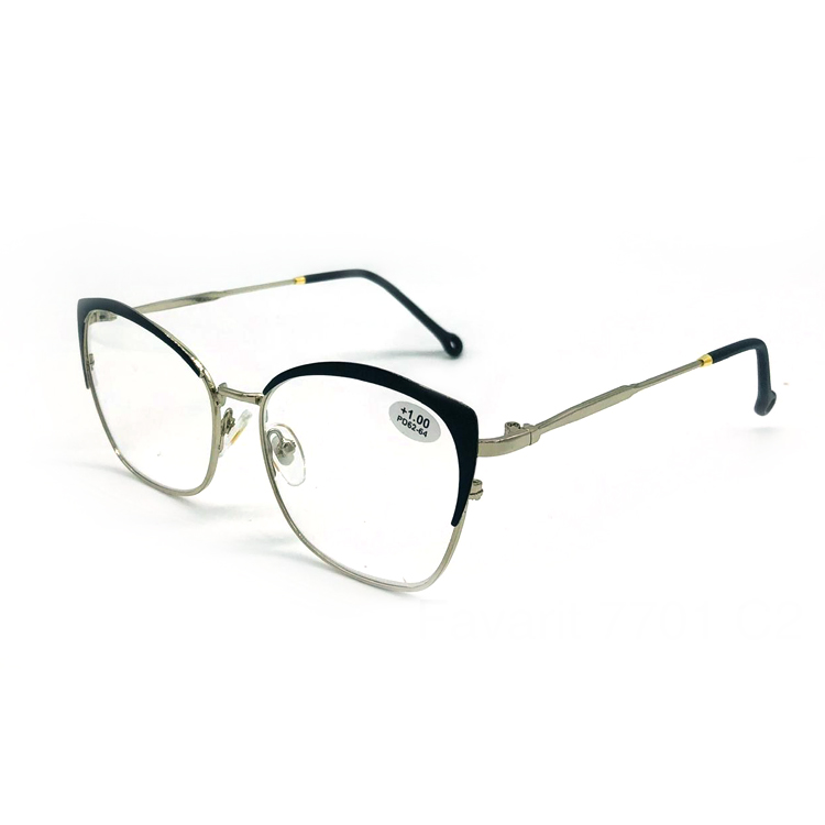 famous high quality clear cool magnifying women reading glasses with green metal frame
