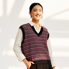 Naivee autumn and winter new retro style sweater women v-neck knitted vest