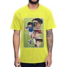 Уникальная футболка Captain Tsubasa Graphic Guys, 100% хлопок, аниме, футболка оверсайз с круглым вырезом на заказ(Китай)