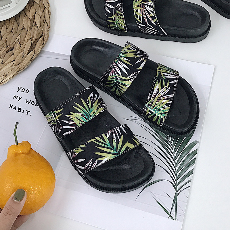 2019 New Summer Beach Cork Slippers Casual Double Buckle Clogs Slides Women Slip on Flip Flop Shoe