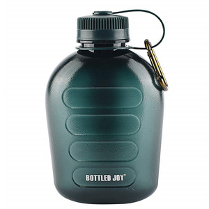 1000ml 1L 33oz Hiking Camping Portable Military Canteen BPA Free Plastic Tritan Material Sports Water Bottle With Strap