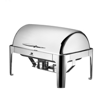 hotel buffet serving oblong roll top buffet chafing dish food warmer stainless steel