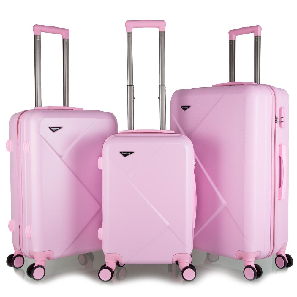 2020 tendance personnalisé hardshell valise trolley abs chariot sacs 3 pièces ensemble de bagages de