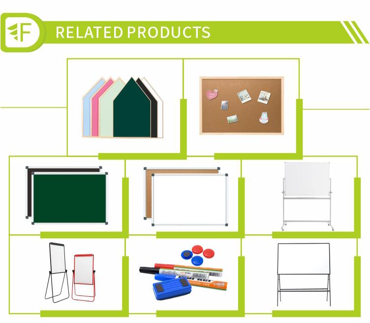 Preço de fábrica tamanho padrão quadro magnético seca apagar bordo branco para sala de aula