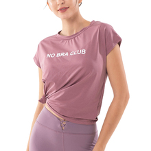 Alo Yoga Kies Klassische T-shirt Dropshipping Yoga Tops Übung Gym Shirts Sexy Tie Up Yoga Top Lose Beiläufige