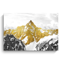 Gold mountain picture print canvas painting modern wall ART home decor
