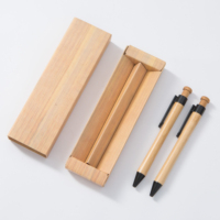 Factory personalized high quality gift gel pen set bamboo pen with box