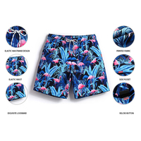 Summer Customized Logo 4 Way Stretch Men Swim Trunks