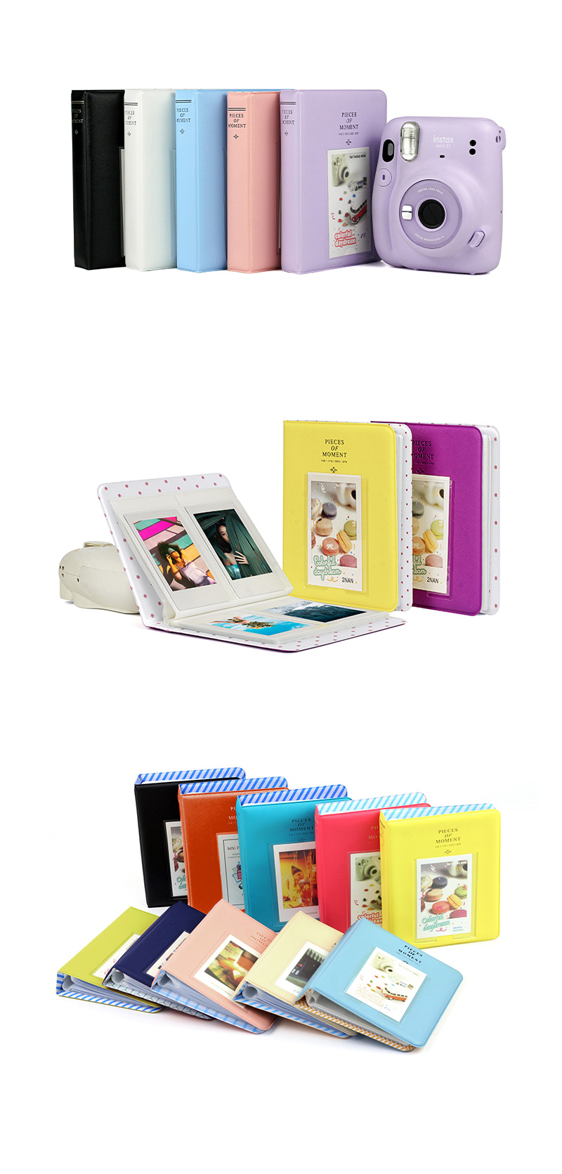 65 Pockets Mini Photo Album for Fujifilm Instax Mini 7s / 8 / 9 / 11 / 25 / 90 / Link / SP-2 / Liplay / Film