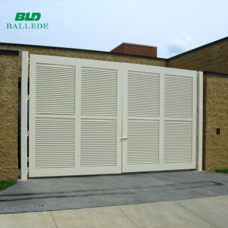 Customized aluminum outdoor sliding driveway gate with electric system