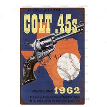 Пистолеты и пистолеты, железный постер, художественный паб, ретро искусство, железная живопись, подвесной постер, украшение для бара, налет(Китай)