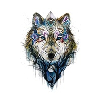 Wolf Temporary Tattoo Sticker for Women Men Fashion Body Art Adults Waterproof Hand Fake Tatoo