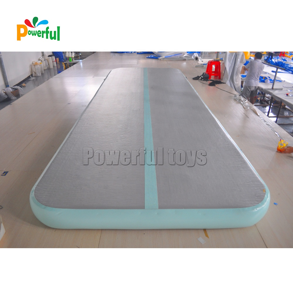 Mint green air floor air track gymnastics tumbling mat