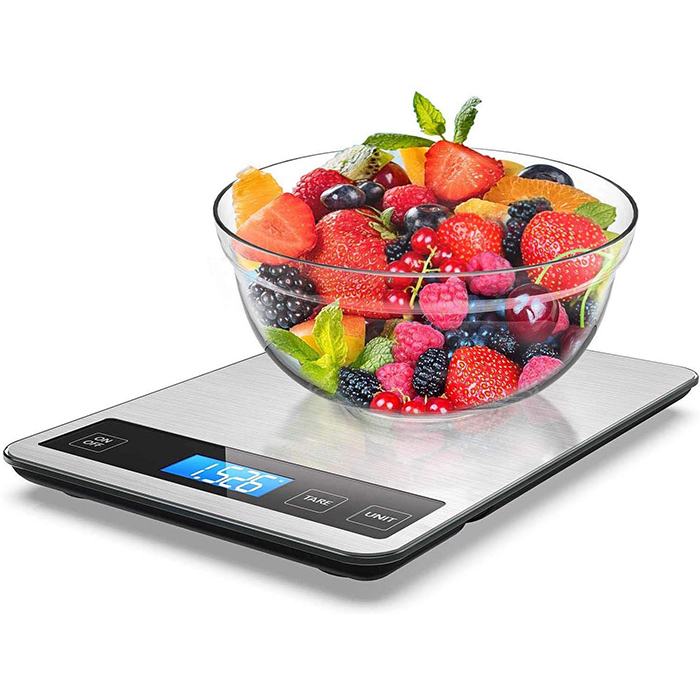 J&R Shopee Top Sell Ultra Thin Retail Manual Operation USB Charge 5KG 15KG Portable Kitchen Scale