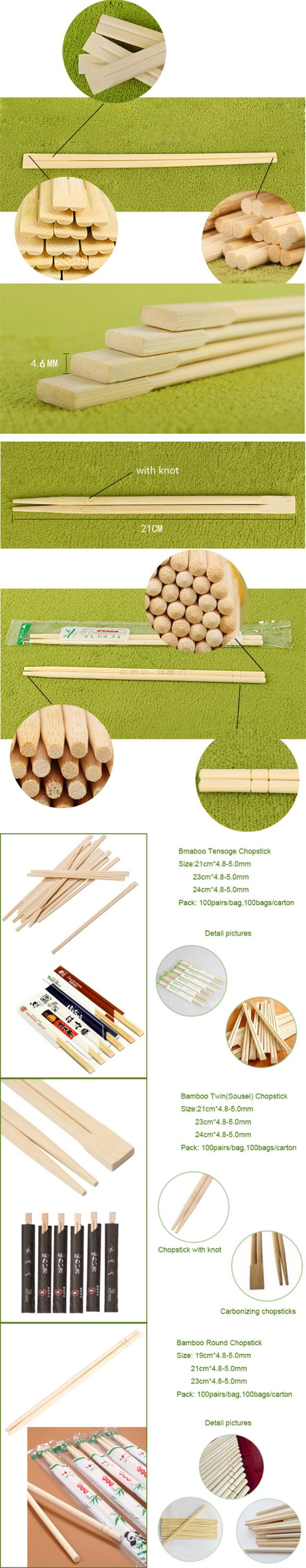 high quality disposable bamboo chopsticks tableware