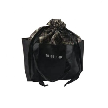 wholesale recycle eco friendly custom mini polyester drawstring bag