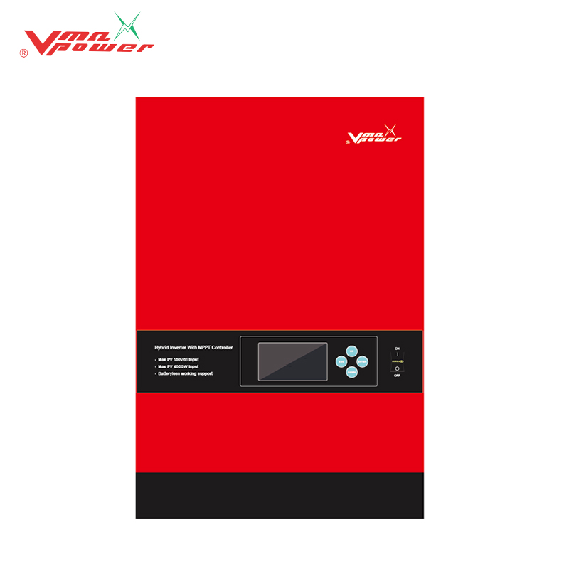Vmaxpower 3KW 3000W 24V 5KW 48V working without battery off grid solar power inverters price voltronic VM Hybrid inverter