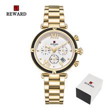 Награда Топ Бренд роскошные женские часы модные стальные полосы кварцевые часы для Montre Femme 2020 женские наручные часы Relogio Feminino(China)