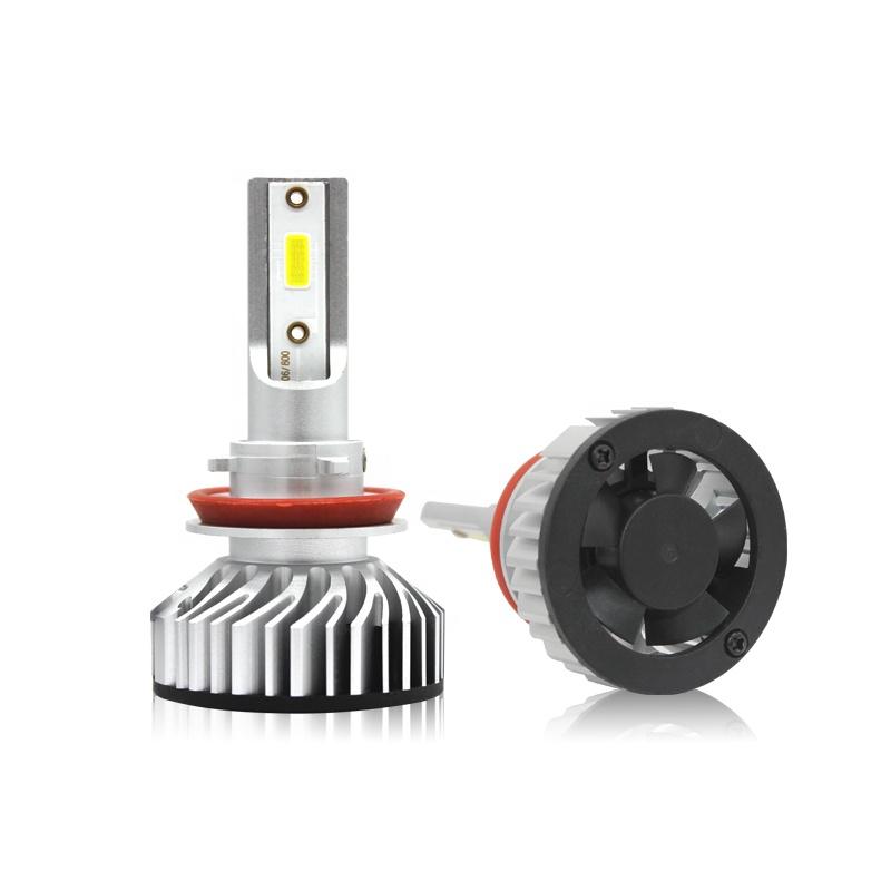 6000K White 10000K 30000K Dark Blue Headlight Bulb H1 H11 H3 H7 COB LED Replace OEM Halogen Light