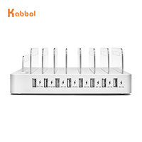 2019 MIQ 5V 10A 8 port usb High Power portable battery supply charger universal charging station for public