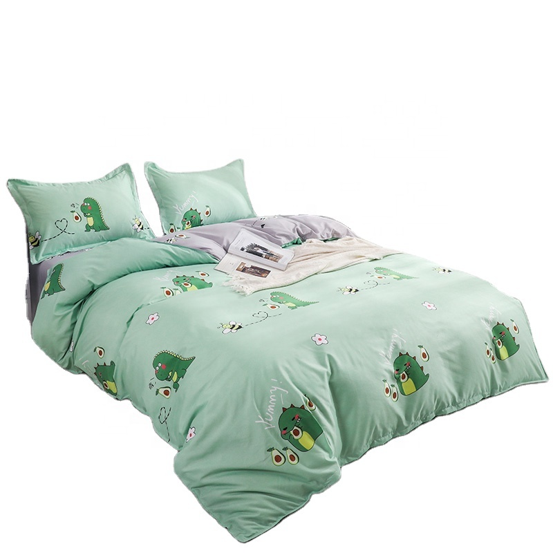 Nantong Factory Children Dinosaur Single Double Queen <strong>King</strong> <strong>Size</strong> 4pcs <strong>Bed</strong> Sheet Duvet Cover Bedding <strong>Set</strong>