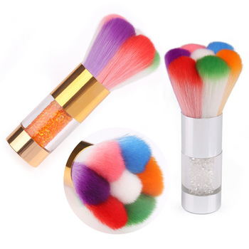 Wholesale Popular Colorful Nail Dust Brushes Acrylic&UV Nail Gel Powder Nail Art Dust Remover Brush