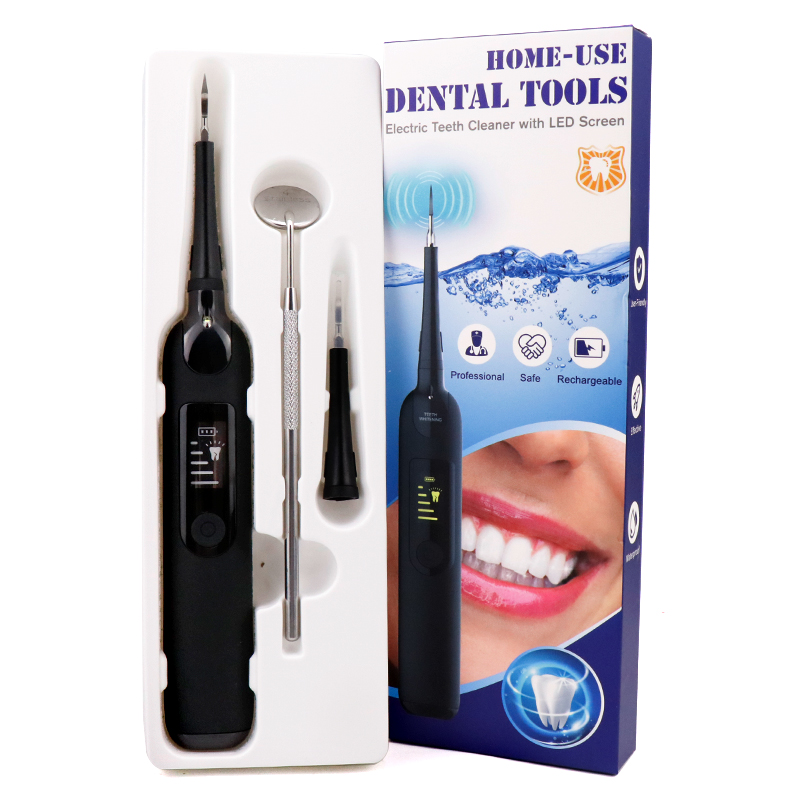 Electric Tooth Cleaner Manufacturer Private Label Portable Home Teeth Whitening Electric Ultrasonic Tooth Cleaner