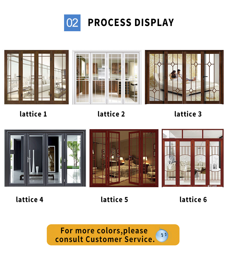 2019 new products heavy folding doors series exterior folding doors soundproof folding door living room