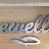 Wall mounted stainless steel 3D metal letter sign