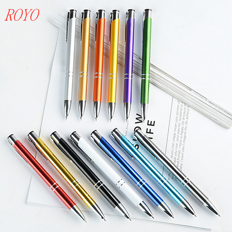 Advertising ballpoint personalized metal pen wholesale promotion metal ball pen with custom logo
