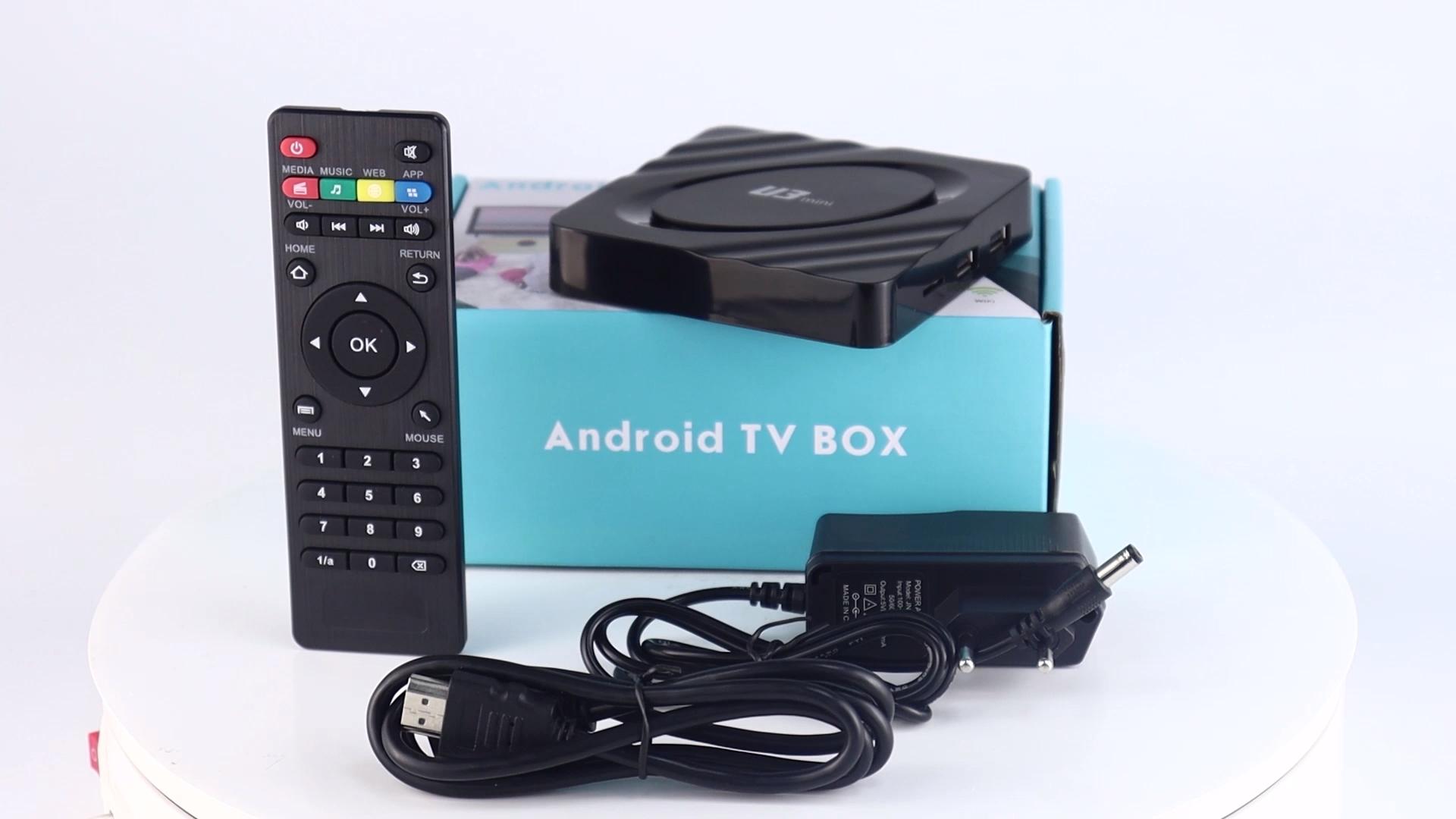 2021 חדש הגעה U3 מיני 2gb 16gb Amlogic S905W אנדרואיד 9.1 4k טלוויזיה ott box
