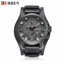CURREN Мужские часы Топ бренд класса люкс модные и повседневные спортивные кварцевые часы Дата водонепроницаемые наручные часы Hodinky Relogio Masculino(Китай)